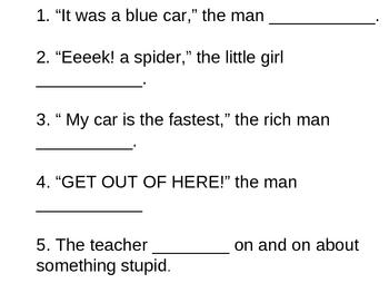 Improving Word Choice Activity