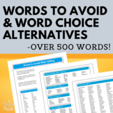 100 Words to Avoid PLUS Over 400 Synonyms to Improve Word Choice in Writing!