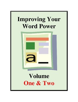 Improving Your Word Power Volume One & Two, Vocabulary Development Activities