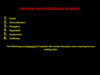 Improving Your Writing- Figures of Speech