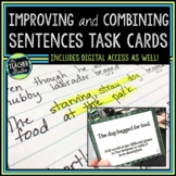 Improving & Combining Sentences: Sentence Writing Task Cards | Distance Learning