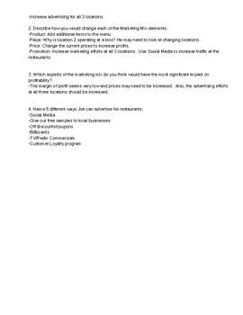 Improving Marketing Mix:Scenario Analysis & Critical Thinking Activity PDF/Word