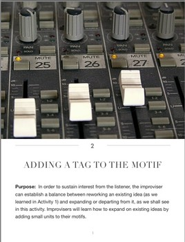 Improvisation Activities #2, #3, & #4