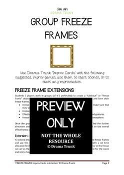 Group Freeze Frames (Improvisation resource with improv cards)