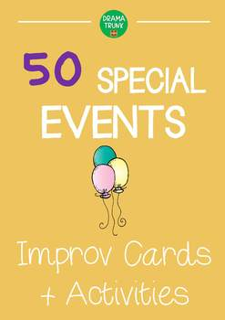 Improv Cards and Games (Special Event Improvisation Teaching Resource)