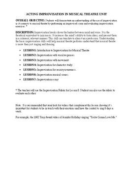 Acting Improvisation in Musical Theatre Unit