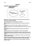 Improvisational Theatre Terms Package with Handout, Quiz a
