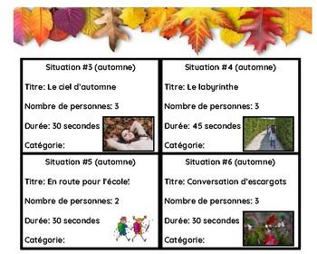 Improvisations:  c'est l'automne!  (activité de communication orale)