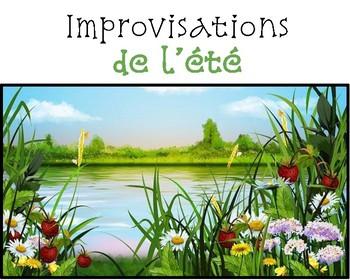 Improvisations:  c'est l'été! (activité de communication orale)