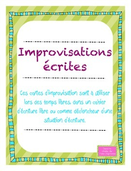 Improvisations écrites