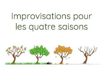 Improvisations pour les quatre saisons (activité de communication orale)