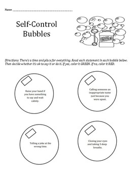 Breathtaking image pertaining to free printable self control worksheets