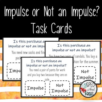 Impulse Or Not an Impulse? Task Cards