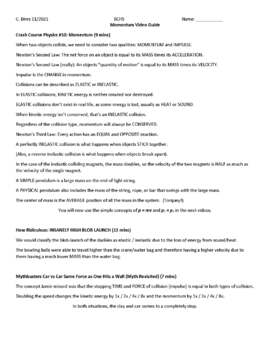 Impulse and Momentum Review Practice Worksheet
