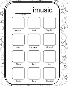Imusic and apps Wall Display Activity Printables--All about Me: Music and Apps