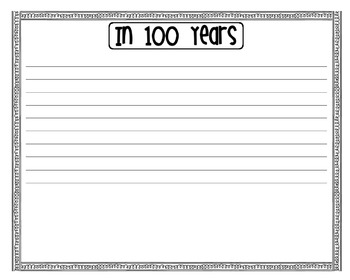 In 100 Years [Writing Prompt]