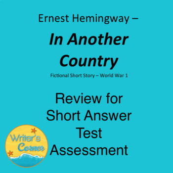 in another country by ernest hemingway literary analysis