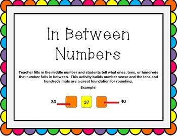 In Between Numbers Activity