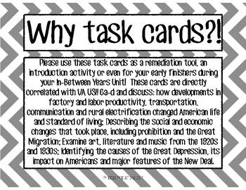 In-Between Years Task Cards