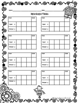 {FREEBIE} In-Bot/Out-Bot Robot - Input & Output Tables
