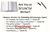 """Embedding a quote: In""""CITE""""ful writing"""
