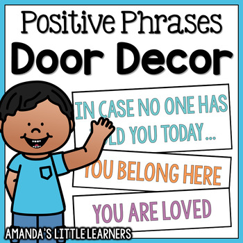 In Case No One Has Told You Today... Door Decor Cards