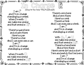 In Charge R (A Pocket Chart Activity)