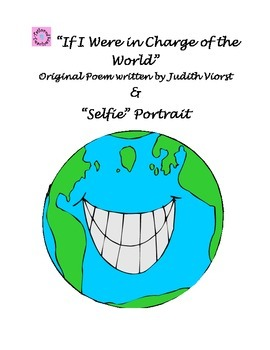 """""""In Charge of the World"""" poetry pack &""""Selfie"""" Portrait"""