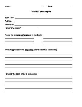 In-Class Book Report