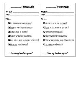 In Class Checklist
