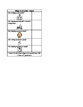 In-Class Listening Visual (Visual Support for Students with Autism)