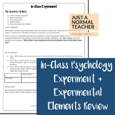 In-Class Psychology Experiment + Elements Review