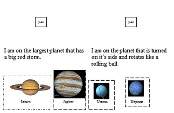 In-Class Support or Replacement Science Planet Quiz