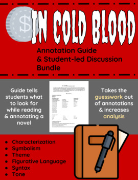 In Cold Blood Annotation Guide and Student-led Discussion Bundle