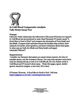 Example Proposal Essay In Cold Blood Comparative Analysis Essay Interview Essay Paper also Compare And Contrast Essay Examples High School In Cold Blood Comparative Analysis Essay By Opals Gems  Tpt English Language Essay