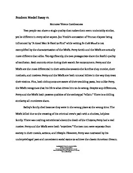 In cold blood comparative analysis essay by opal s gems tpt