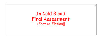 In Cold Blood Final Assessment