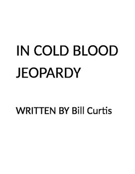 In Cold Blood Jeopardy