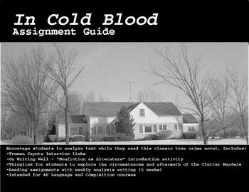 In Cold Blood Novel Reading and Assignments