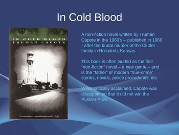 In Cold Blood Power Point