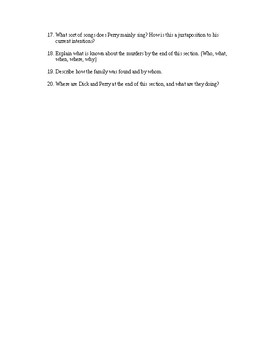 In Cold Blood - Study Guide for Section I