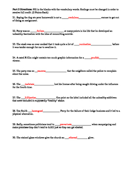 In Cold Blood Vocabulary Unit Activities and Quizzes