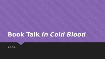 In Cold Blood_Book Talk PowerPoint