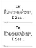 In December Emergent Reader Preschool Kindergarten Months of the Year