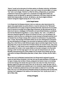 In Defense of the Pharisees