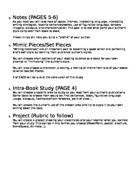 In Depth Author Study