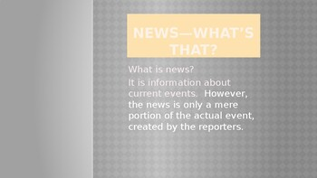 In Depth Newscast and So Much More