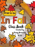 In Fall Print & Go Class Book