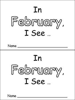 In February Emergent Reader Preschool Kindergarten Months of the Year