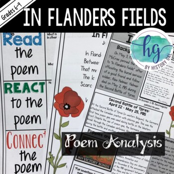 analysis in flanders fields It is thought that doctor john mccrae (30 november 1872 — 28 january 1918) began the draft for his famous poem 'in flanders fields' on the evening of the 2 may, 1915 in the second week of fighting during the second battle of ypres.